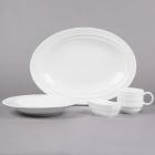 Syracuse China Resonate Royal Rideau White Porcelain Dinnerware