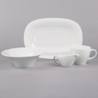 Syracuse China Solario Royal Rideau White Porcelain Dinnerware