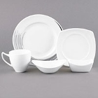 Syracuse China Silk Royal Rideau White Porcelain Dinnerware