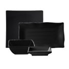 Thunder Group Classic Black Melamine Dinnerware