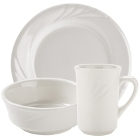 Tuxton Monterey Embossed Ivory China Dinnerware
