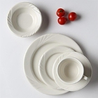 Tuxton Monterey Embossed Ivory (American White) China Dinnerware