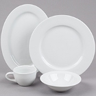 Tuxton Alaska Rolled Edge Bright White China Dinnerware