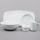 Tuxton DuraTux Bright White China Dinnerware