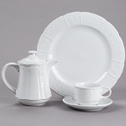 Tuxton Chicago Bright White China Dinnerware