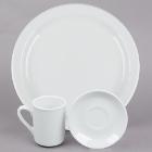 Tuxton Colorado Narrow Rim Bright White China Dinnerware