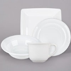 Tuxton Concentrix White China Dinnerware