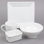 Tuxton DuraTux White China Dinnerware
