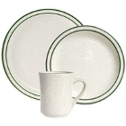 Tuxton Emerald Narrow Rim Green Speckle China Dinnerware
