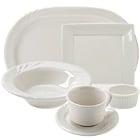 Tuxton DuraTux Ivory (American White) China Dinnerware