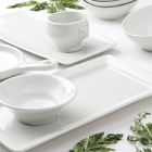 Tuxton Linx Bright White China Dinnerware