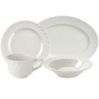 Tuxton Meridian Swirl Rim Ivory (American White) China Dinnerware