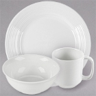 Tuxton Pacifica Embossed White China Dinnerware
