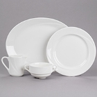 Tuxton AlumaTux San Marino Bone White China Dinnerware