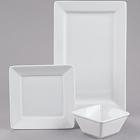 Tuxton TuxTrendz Santorini Bright White China Dinnerware