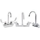 Wall-Mount Faucets with Gooseneck Nozzles