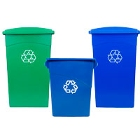 Wall Hugger Recycling Cans and Lids