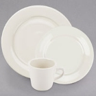 Choice Wide Rim Rolled Edge Ivory (American White) China Dinnerware