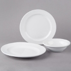 World Tableware Basics Bright White Porcelain Dinnerware