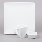 World Tableware Slate Bright White Porcelain Dinnerware