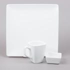 World Tableware Slate Bright White Porcelain Dinnerware