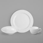 World Tableware Basics Orbis Bright White Porcelain Dinnerware