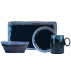 World Tableware Stonewash Deep Blue Stoneware Dinnerware