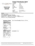 Farm Promise 6.5 lb. NAE All-Natural Boneless Center Cut Pork Loin Nutrition Information