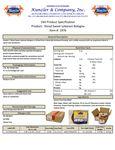 Spec Sheet/Nutrition