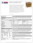 Cattlemen's Carolina Tangy Gold BBQ 4/1 Gal Nutrition