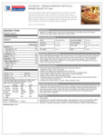 Frank's Red Hot Buffalo Wing Sauce 4/1 Gal Nutrition