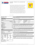 French's Yellow Mustard Packet Nutrition
