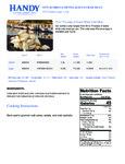 Handy 1 lb. Jumbo Lump 55/75 Crab Meat Nutrition Information