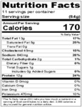 Curly's Fully Cooked Sliced Brisket Nutrition Information