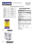 GOYA 3 Liter Extra Virgin Olive Oil Nutrition Information