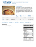 Handy Hotel Soft Shell Domestic Crabs Nutrition Information
