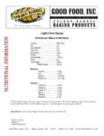 Golden Barrel 1 Gallon Light Corn Syrup Nutrition Information