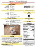Original Bagel Blueberry Mini Bagel Nutrition Information