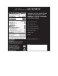 Monin 375 mL Blackberry Concentrated Flavor Nutrition Information