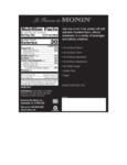 Monin 375 mL Hazelnut Concentrated Flavor Nutrition Information