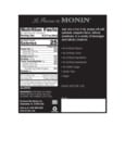 Monin 375 mL Jalapeno Concentrated Flavor Nutrition Information