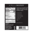 Monin 375 mL Watermelon Concentrated Flavor Nutrition Information