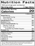 Nielsen-Massey 18 oz. Coffee Extract Nutrition Information