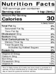 Nielsen-Massey 18 oz. Lemon Extract Nutrition Information