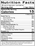 Nielsen-Massey 8 oz. Pure Vanilla Extract Nutrition Information