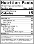 Nielsen-Massey 8 oz. Tahitian Vanilla Extract Nutrition Information