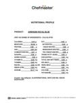 Chefmaster 9 oz. Royal Blue Airbrush Color Nutrition Information
