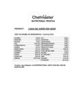 Chefmaster 1 Gallon Super Red Liqua-Gel Food Coloring Nutrition Information