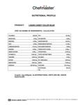 Chefmaster 2 oz. Blue Oil-Based Candy Color Nutrition Information