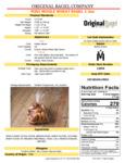 Original Bagel Mini Whole Wheat Bagel Nutrition